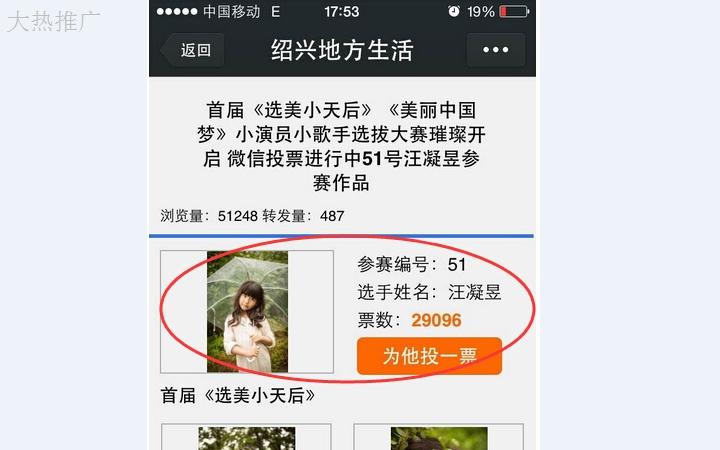微信营销_【年底冲销量】1元网络人工投票阅读转发物评选微信推广营销4
